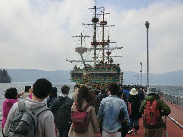 箱根初心者にオススメ!箱根日帰り周遊コース 遊覧船 海賊船